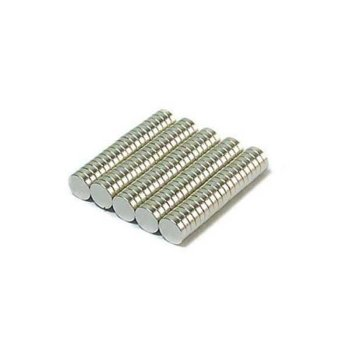 4x1 mm Neodym Magnet N35, vernickelt