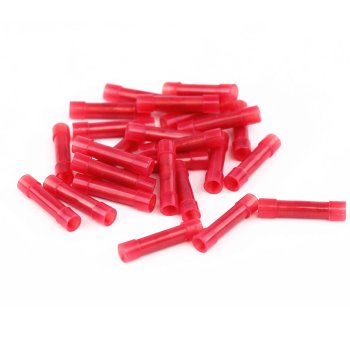 Stoßverbinder isoliert 0,5-1,5mm² rot