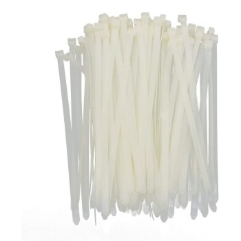 Kabelbinder 2,5x200mm VPE 100 Stück Weiß