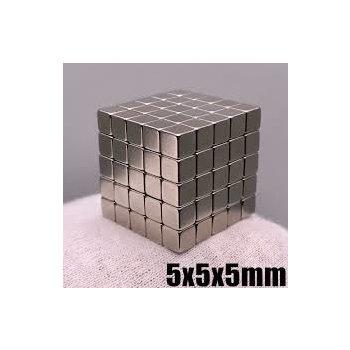 5x5x5 mm Neodym Magnet N35, vernickelt