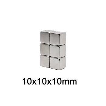 10x10x10 mm Neodym Magnet N35, vernickelt