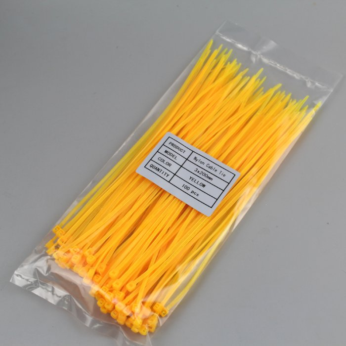 Kabelbinder 4,8x300mm VPE 100 Stück Gelb