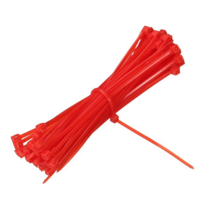 Kabelbinder 4,8x200mm VPE 100 Stück Rot