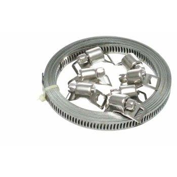 Schlauchschelle Endlos Spannbänder Edelstahl W4 12,7mm 3 Meter mit 6 Schlösser