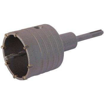 Bohrkrone Dosenbohrer SDS Plus 30-160 mm Durchmesser komplett für Bohrhammer 50 mm (6 Schneiden) ohne Verlängerung