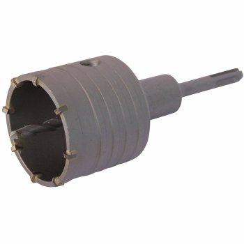 Bohrkrone Dosenbohrer SDS Plus 30-160 mm Durchmesser komplett für Bohrhammer 50 mm (6 Schneiden) SDS Plus 350 mm