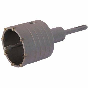 Bohrkrone Dosenbohrer SDS Plus 30-160 mm Durchmesser komplett für Bohrhammer 55 mm (6 Schneiden) ohne Verlängerung