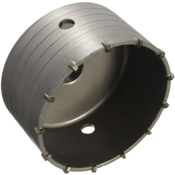 Bohrkrone Dosenbohrer SDS Plus 30-160 mm Durchmesser komplett für Bohrhammer 80 mm (10 Schneiden) ohne Verlängerung