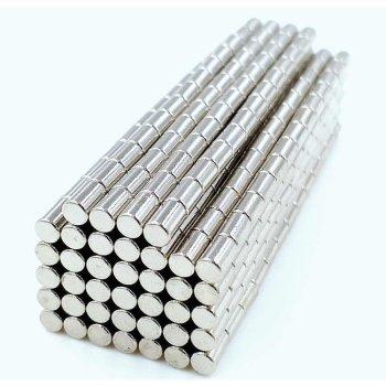 4x10 mm Neodym Magnet N35, vernickelt