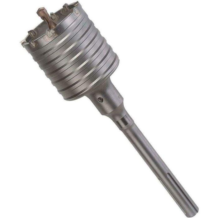 Bohrkrone Dosenbohrer SDS Plus MAX 30-160 mm Durchmesser komplett für Bohrhammer 50 mm (6 Schneiden) SDS MAX 220 mm