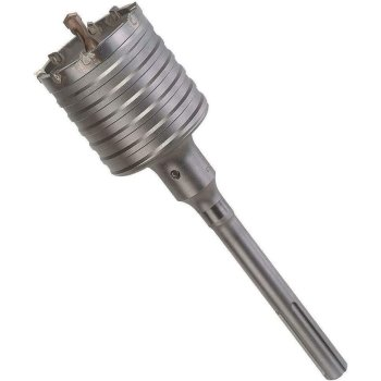 Bohrkrone Dosenbohrer SDS Plus MAX 30-160 mm Durchmesser komplett für Bohrhammer 120 mm (14 Schneiden) SDS MAX 350 mm