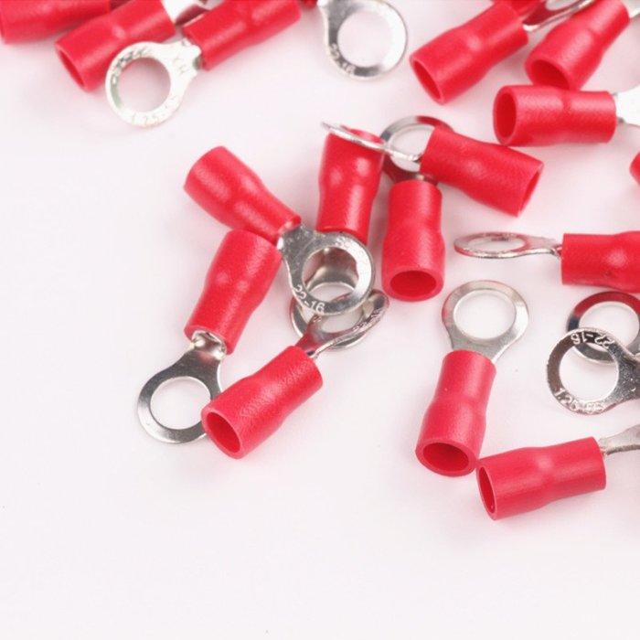 Ringkabelschuh isoliert 0,5-6mm² M3-M8 VPE 50 Stück 0,5-1,5mm² rot M3