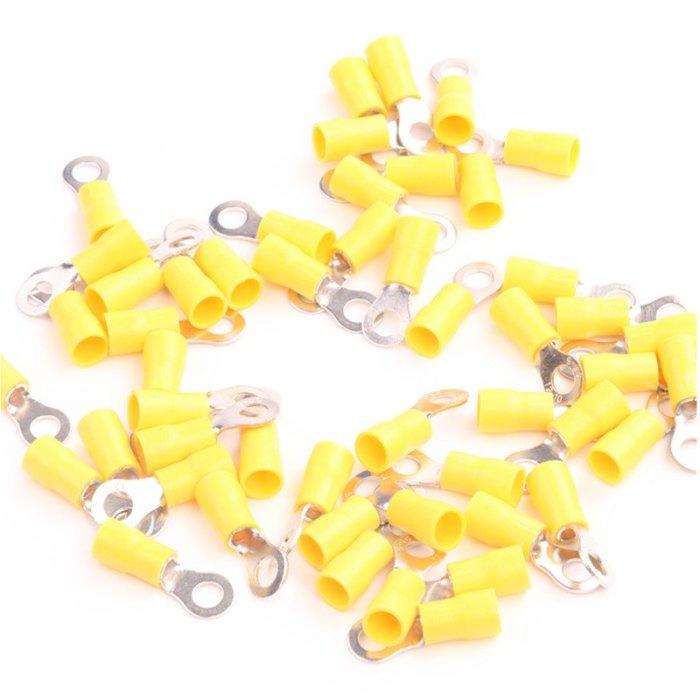 Ringkabelschuh isoliert 0,5-6mm² M3-M8 VPE 50 Stück 4-6mm² gelb M4