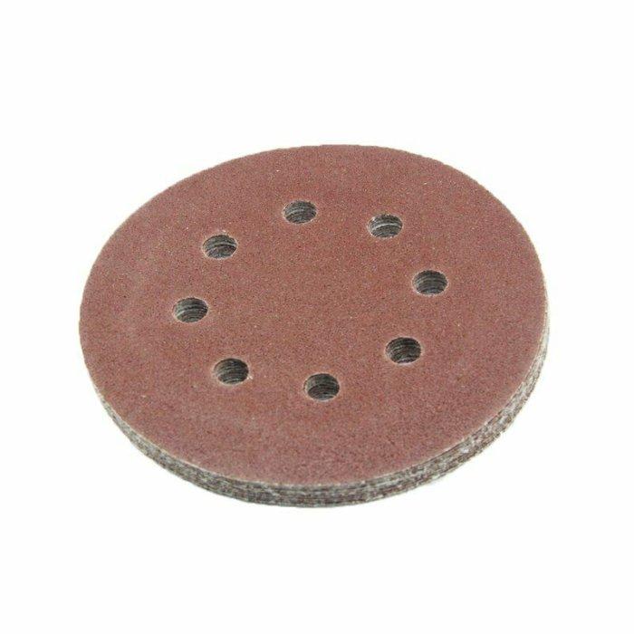 Schleifscheiben Klett 125 mm 8 Löcher P40-P2000 VPE 10 Stück