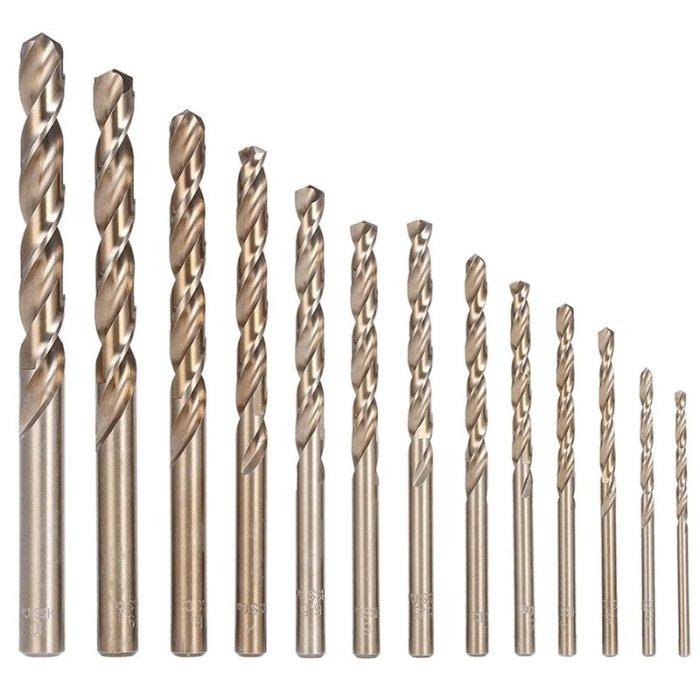 HSS Kobaltbohrer 1-13mm Metallbohrer Co5 DIN 338 1 mm 10 Stück