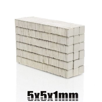 5x5x1,2 mm Neodym Magnet N50, vernickelt