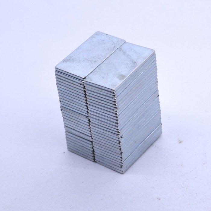 20x10x1 mm Neodym Magnet N52 selbstklebend, vernickelt